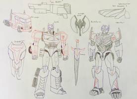 Optimus Prime Full Body Redesign 2017 by KaijuATTACK877