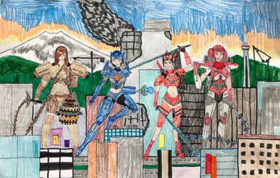 2018 The Jaegirls are ready for WAR! by KaijuATTACK877