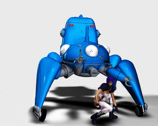 SAC: Tachikoma-kun and motoko by drui-anomalis