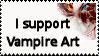 I Support Vampire Art Stamp by alucard07