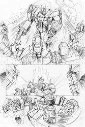 Transformers - Combiner Wars#5 - page 01 pencils by MarcFerreira