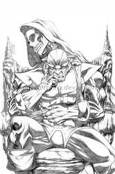 Thanos and Death by MarcFerreira