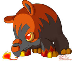 Fire Tapir Fakemon by Z0MB13S