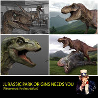 JURASSIC PARK ORIGINS NEEDS YOU by GIU3232