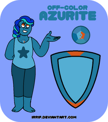 Off-Color Azurite by irrif