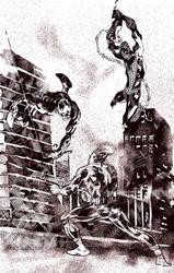 DareDEVil, SpiDEY und PunISHER SKETCH #59 by ErolDebris