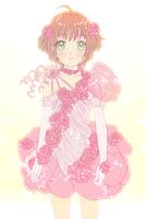 Roses Cake and Ribbon Dress Sakura by skimlines