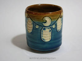 Small Lanterns Tea Cup by skimlines