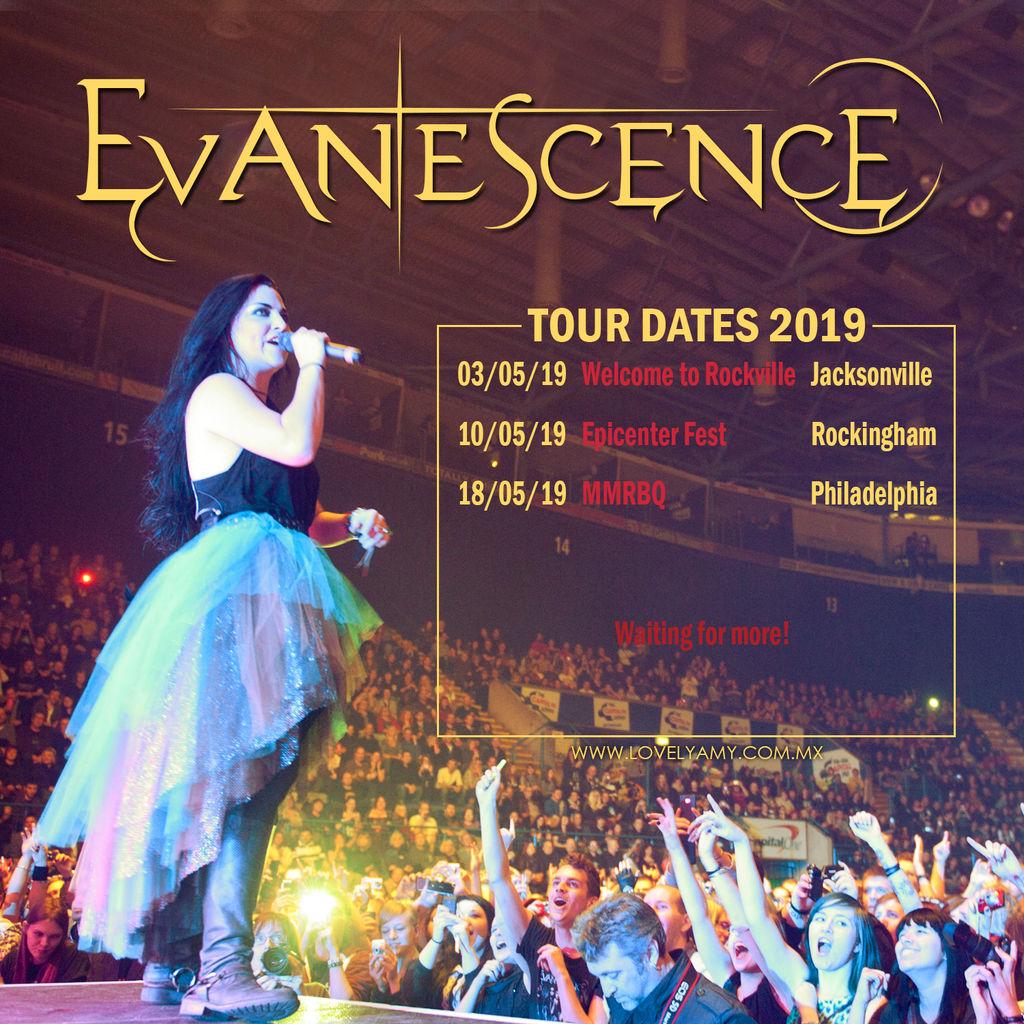 Evanescence Tour Dates 2019.