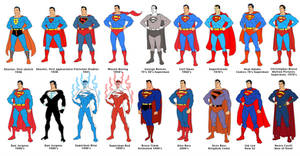 Superman 75 line-up by dusty-abell