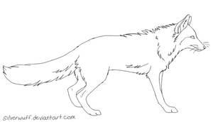 Free Fox Lineart by Silverwuff