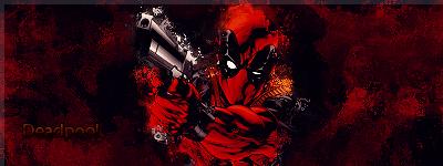 Deadpool Smudge Banner by Uprisen257