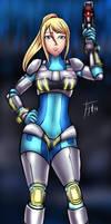 Neo Zero Suit Samus - Commission by Fenril-Huayra