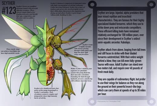 Scyther Anatomy- Pokedex Entry by Christopher-Stoll