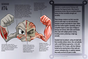 Geodude Anatomy- Pokedex Entry by Christopher-Stoll