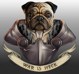 Doggo of War- Pug by Christopher-Stoll