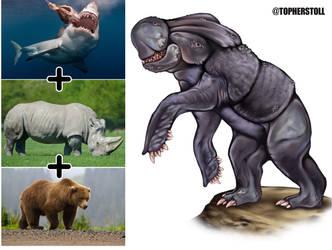 Creature Design Combo- Bear, Rhino, Shark by Christopher-Stoll