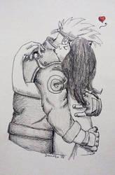 Inktober no. 1: Ninja in love by Ivanitko