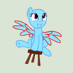 Pony On Chair Base by Jess4horses