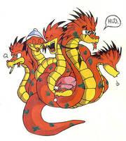 The Terrifying Hydra by jessicapadkin