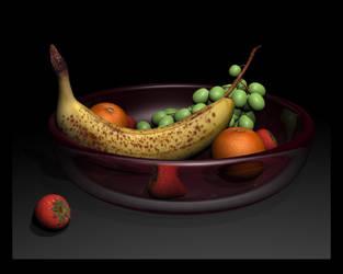3D Fruit Bowl by jessicapadkin