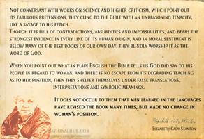 Elizabeth Cady Stanton on Bible.. by rationalhub
