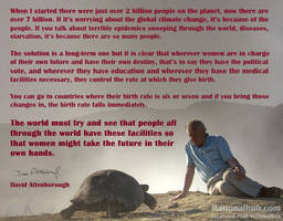 David Attenborough on reproductive freedom.. by rationalhub