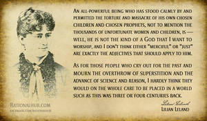 Lilian Leland on god and freethought.. by rationalhub