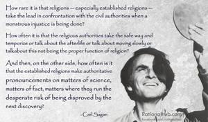 Carl Sagan on Organized religion II by rationalhub