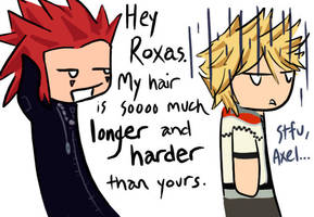 Stfu, Axel by WeebleClock