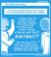 You Might Be A Geek #15 by schizmatic