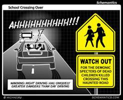 School Crossing Over by schizmatic