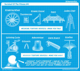 Survival Of The Fitness #4 by schizmatic