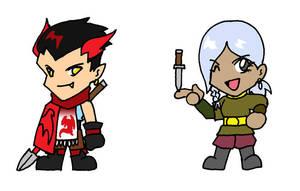 Dragomir and Loralissa Chibis by phoenixsamurai