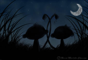 watching the moonlight by MichelleChiasson