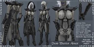 Drow Warrior Armor set by Elvina-Ewing
