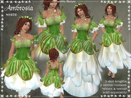 Ambrosia Gown in White by Elvina-Ewing