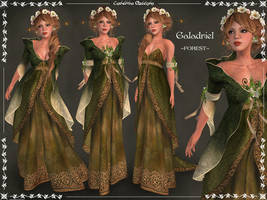 Galadriel Outfit FOREST by Elvina-Ewing