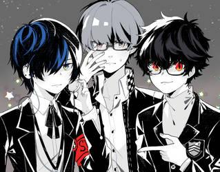 protagonists by unkou