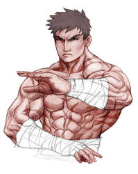 Almost Ryu by janusmemory