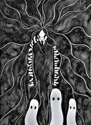 Ghosts and Ghouls by MortNevermore