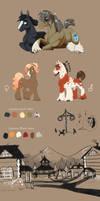 Species Sheet: Horses by Vindhov