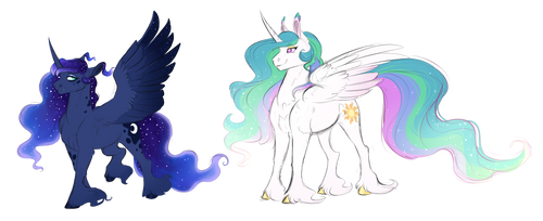 Woona and Celly by Vindhov