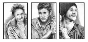 Supernatural - The Trio by AnarchyWulf