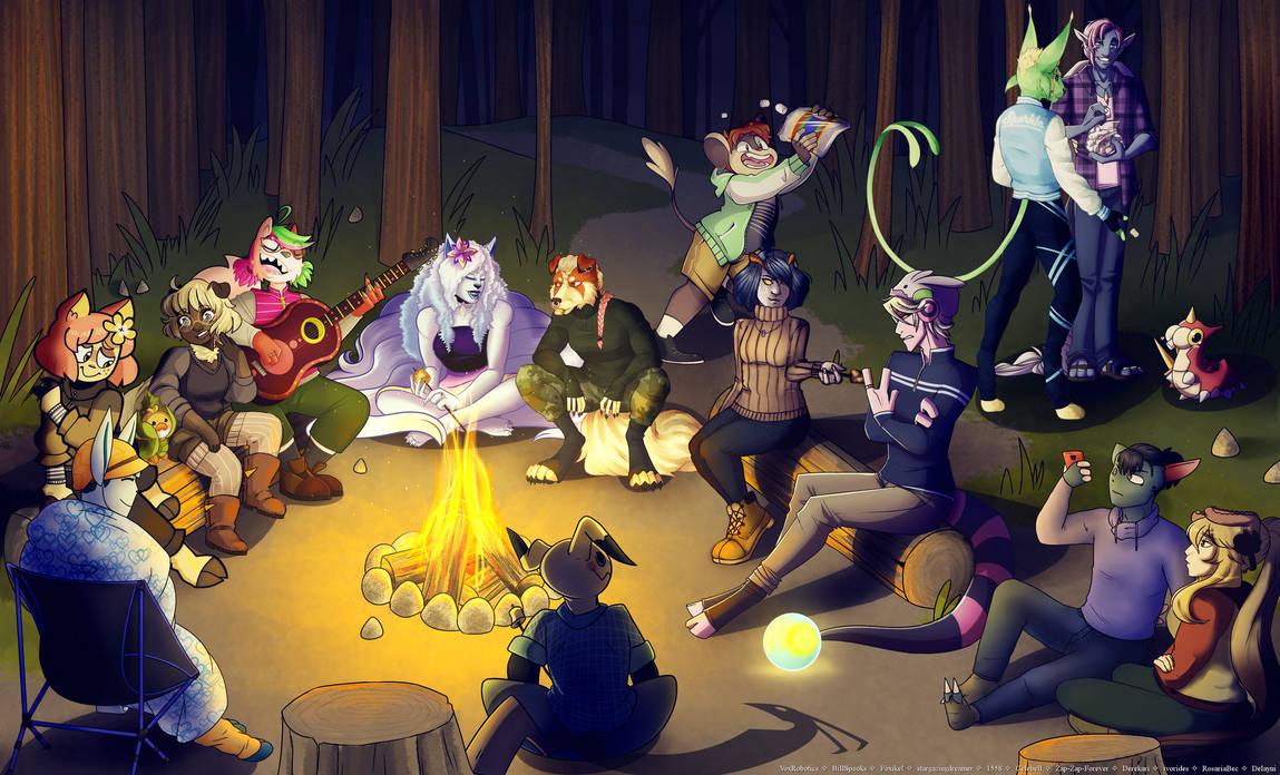 pmmm   sittin' round the campfire by Delayni