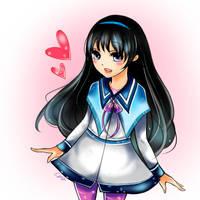 Akemi Homura by Afaeix