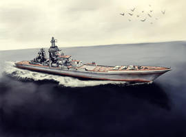The Kirov Missile Cruiser by amircea