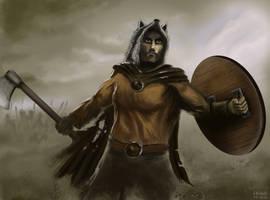 Barbarian Wolfman Warrior by amircea
