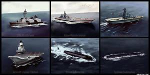XXth century military ships by amircea