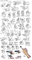 Hands study by amircea